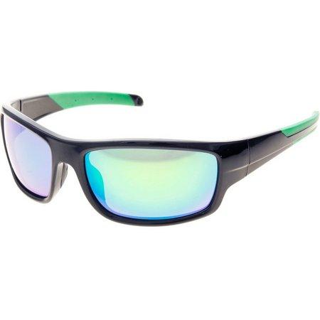 Reel Legends Mens Black Wrap Floating Sunglasses