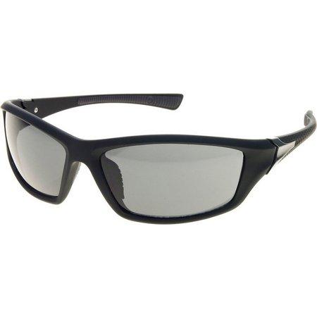 Reel Legends Mens Rubberized Wrap Sunglasses