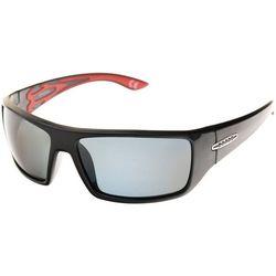 Reel Legends Mens Black Wrap Sunglasses