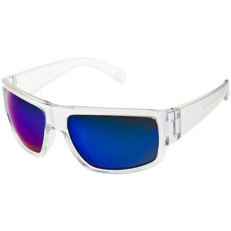 Reel Legends Mens Clear Wrap Sunglasses