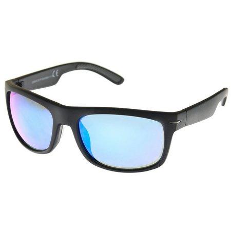 Reel Legends Mens Solid Wrap Sunglasses