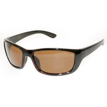 Reel Legends Plastic Retangle Wrap Sunglasses