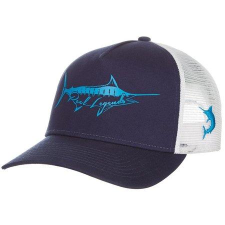 Reel Legends Mens Fish Blue Trucker Hat