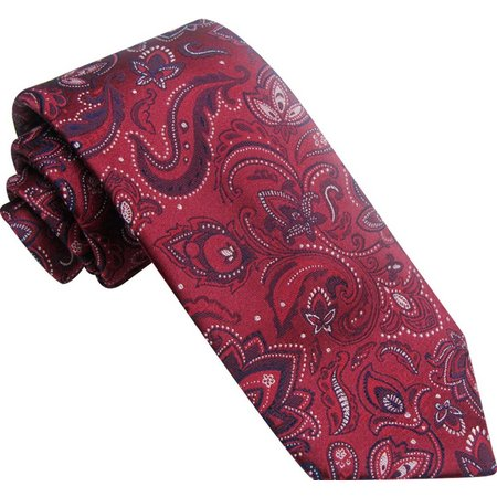 Haggar Mens Paisley Print Neck Tie