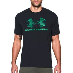 Under Armour Mens Green Blow Out Logo T-Shirt