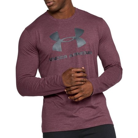 Under Armour Mens Sportstyle Logo Long Sleeve T-Shirt