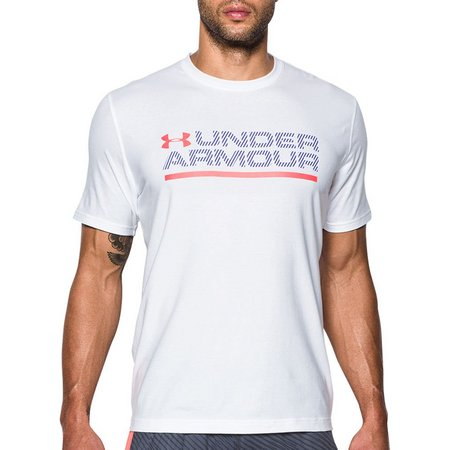 Under Armour Mens Logo Wordmark Lockup T-Shirt