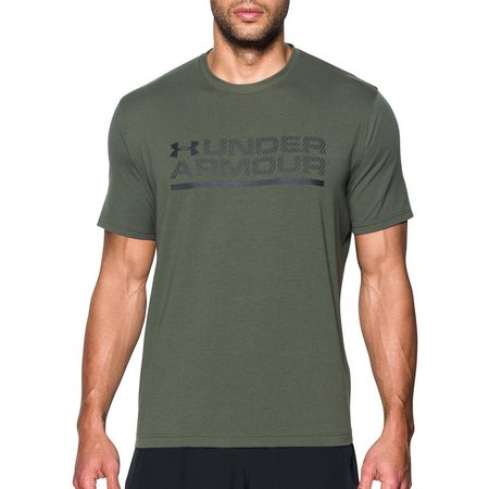 Under Armour Mens Downtown Logo Wordmark T-Shirt