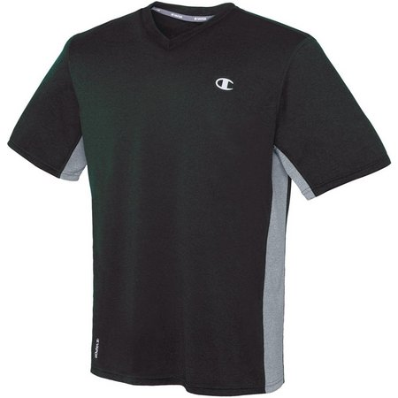 Champion Mens Vapor Heather V-Neck T-Shirt