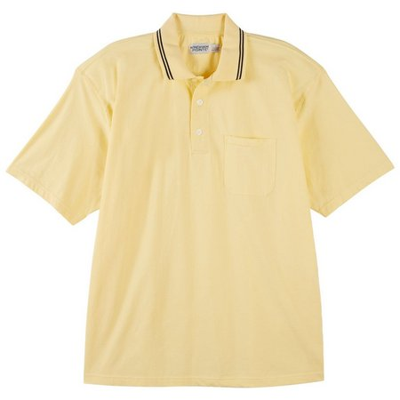 Windham Pointe Mens Solid Short Sleeve Polo Shirt