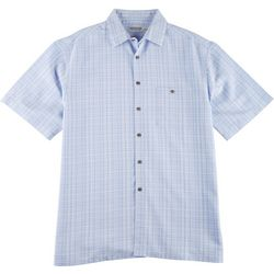 New! Windham Pointe Mens Texture Grid Button Down
