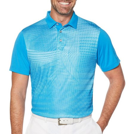 PGA TOUR Mens Foliage Print Polo Shirt