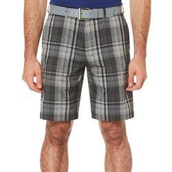 PGA TOUR Mens Caviar Madras Plaid Shorts