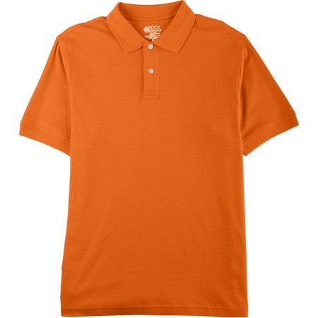 Boca Classics Mens Solid Interlock Polo Shirt
