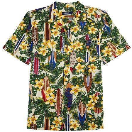 Boca Classics Mens Surfboards Short Sleeve Shirt