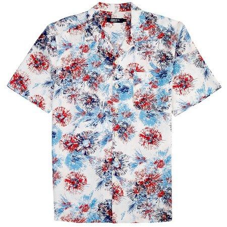 Boca Classics Mens Fireworks Short Sleeve Shirt