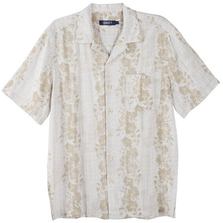 Boca Classics Mens Topical Clay Short Sleeve Shirt
