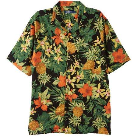 Boca Classics Mens Wild Lily Pineapple Shirt