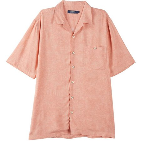 Boca Classics Mens Tonal Floral Short Sleeve Shirt
