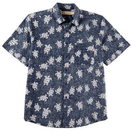 Boca Classics Islandwear Mens Turtle Short Sleeve Shirt