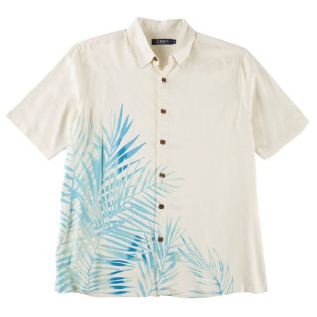 Boca Classics Mens Silk Vines Short Sleeve Shirt