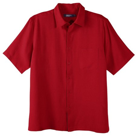 Boca Classics Mens Red Pique Short Sleeve Shirt