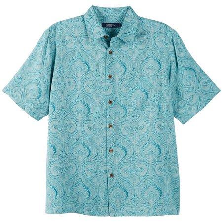 Boca Classics Mens Blue Tapestry Shirt