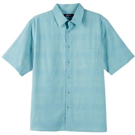 Boca Classics Mens Solid Texture Shirt