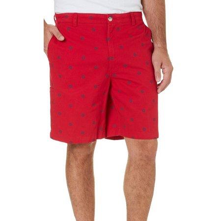 Boca Classics Mens Ships Wheel Cell Pocket Shorts