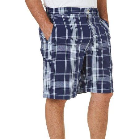 Boca Classics Mens Plaid Side Cell Pocket Shorts