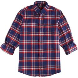 Boca Classics Mens Blue & Red Plaid Flannel
