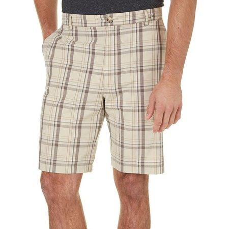 Boca Classics Mens Cell Pocket Plaid Shorts