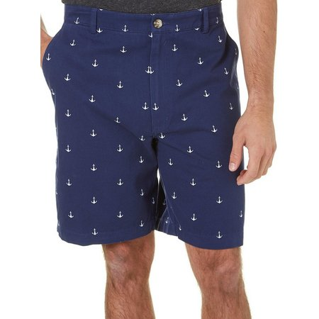 Boca Classics Mens Anchor Cell Pocket Shorts