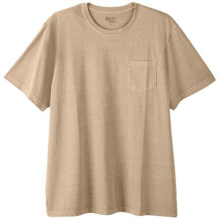 Boca Classics Mens Crew Neck Pocket T-Shirt