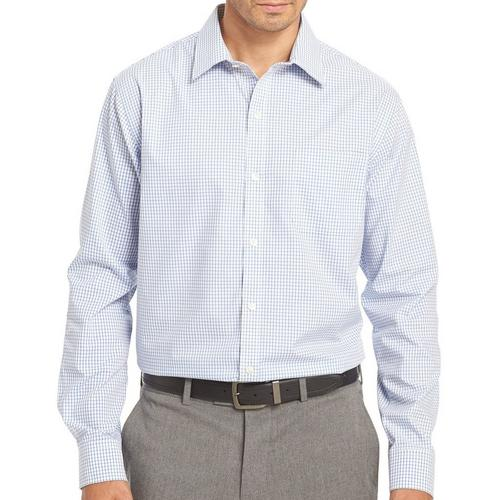 Van heusen mens long sleeve plaid traveler shirt bealls for Van heusen plaid shirts
