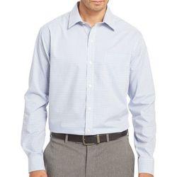 Van Heusen Mens Long Sleeve Plaid Traveler Shirt