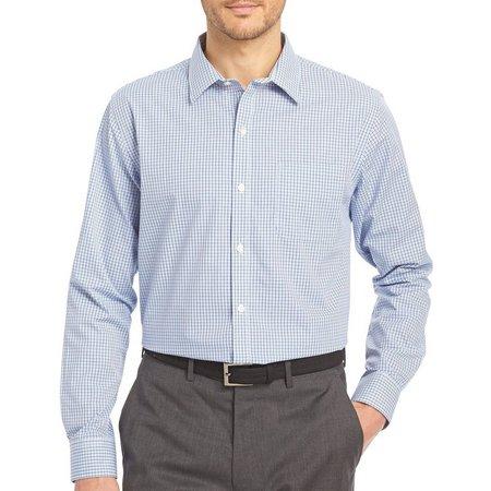 Van Heusen Mens Blue Mazarine Traveler Shirt