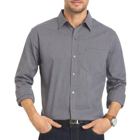 Van Heusen Mens Grey Cirrus Traveler Shirt
