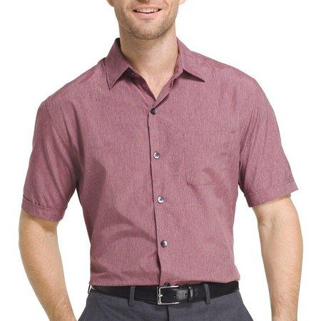 Van Heusen Mens Air Heather Short Sleeve Shirt