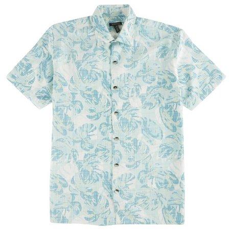 Van Heusen Mens Oasis Palm Short Sleeve Shirt
