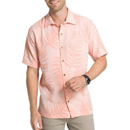 Van Heusen Mens Textured Leaf Shirt