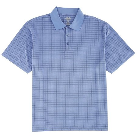 Haggar Mens Plaid Cool 18 Performance Polo Shirt