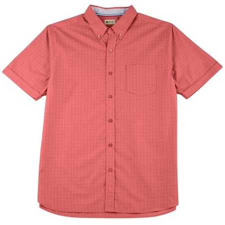 Haggar Mens Chrysanthemum Grid Shirt