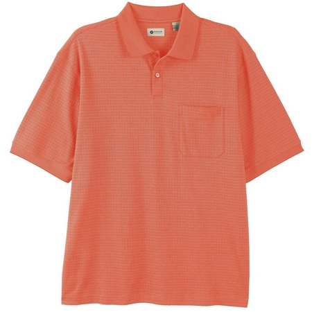 Haggar Mens Mini Box Premium Polo Shirt