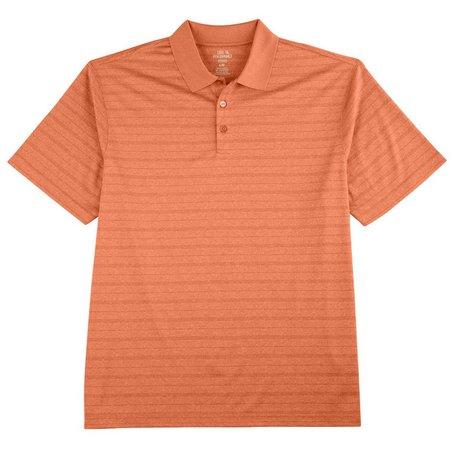 Haggar Mens Stripe Polo Shirt
