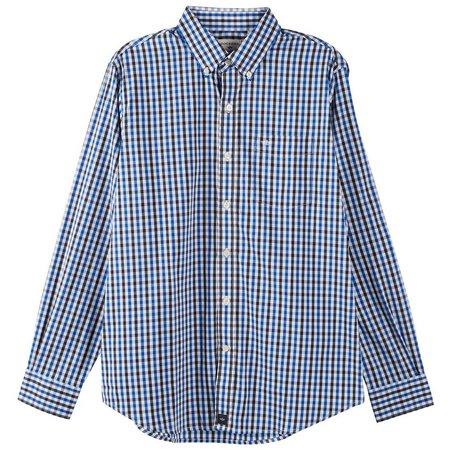 Dockers Mens Plaid Check Comfort Stretch Shirt