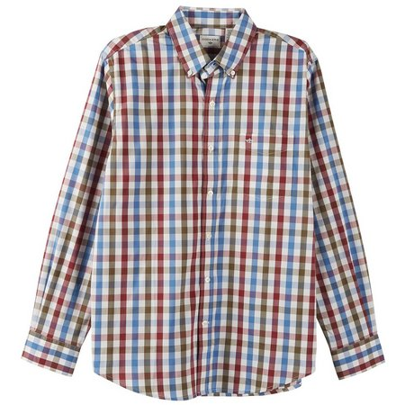 Dockers Mens Long Sleeve Deft Plaid Shirt