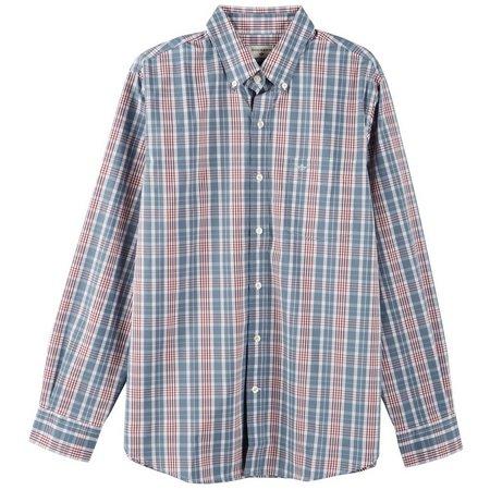 Dockers Mens Acadia Plaid Long Sleeve Shirt
