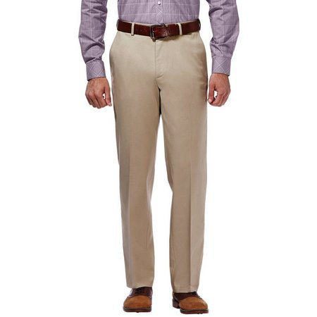 Haggar Mens Premium No Iron Khaki Pants