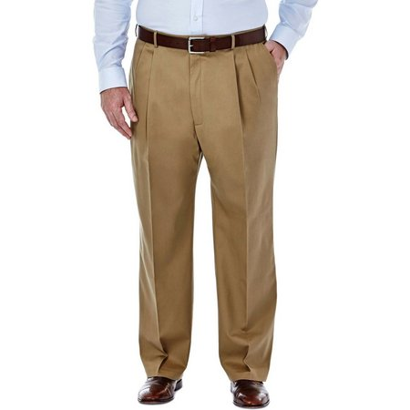 Big & Tall Haggar Mens No Iron Pleated
